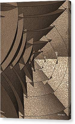 Radial Edges - Earth Canvas Print by Stephen Younts