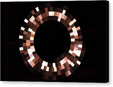 Radial Mosaic In Brown Canvas Print by Todd Soderstrom