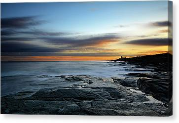 New England Lighthouse Canvas Print - Radiance Of Its Light by Lourry Legarde