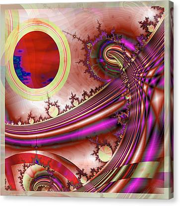 Fractal Orbs Canvas Print - Radiant Orchid by Wendy J St Christopher