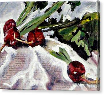 Radiant Radishes Canvas Print