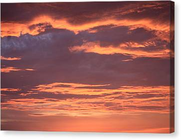 Radiant Sunset 3 Canvas Print by Karen Nicholson