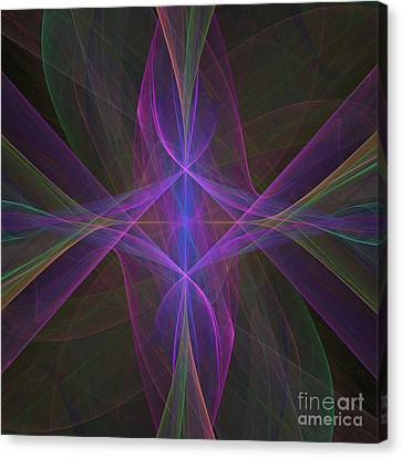 Canvas Print featuring the digital art Radiant Veils by Ursula Freer