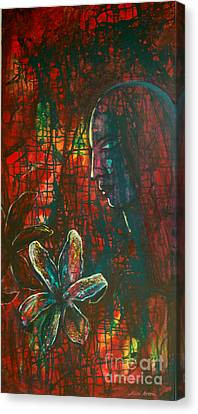 Canvas Print featuring the painting Radiating Light by Mini Arora