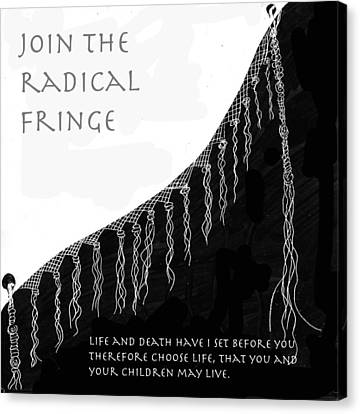 Canvas Print featuring the drawing Radical Fringe by Aurora Levins Morales