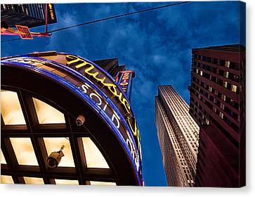 Canvas Print featuring the photograph Radio City And 30 Rock by James Howe