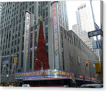 Radio City Christmas Canvas Print by Michael Porchik