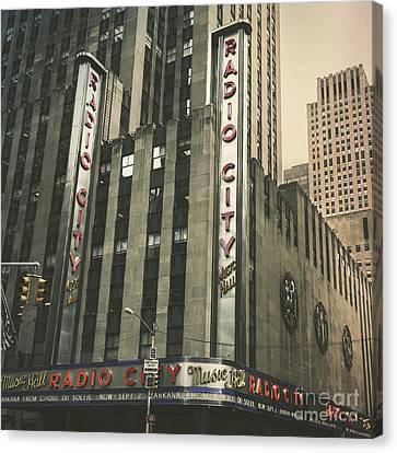 Radio City Hall Canvas Print by Andrew Paranavitana