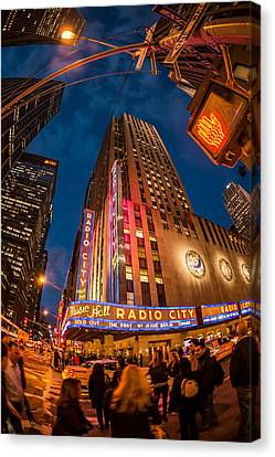 Canvas Print featuring the photograph Radio City by James Howe