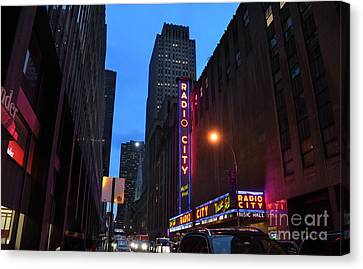 Radio City Music Hall And St Patricks Cathedral Canvas Print by RicardMN Photography