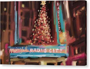 Hall Canvas Print - Radio City Music Hall Christmas New York City by Beverly Brown Prints