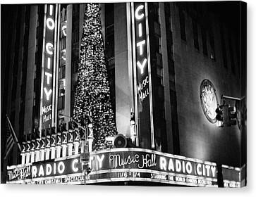 Canvas Print featuring the photograph Radio City New York by Dave Beckerman