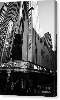 Manhatan Canvas Print - Radio City Music Hall On Sixth Avenue New York City by Joe Fox