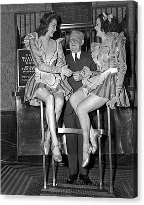 Radio City Rockettes Canvas Print by Underwood Archives