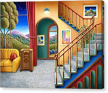 Staircase Canvas Print - Radio Days 10 by Andy Russell