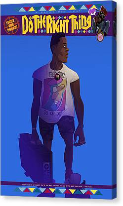 Canvas Print featuring the drawing Radio Raheem by Nelson Dedos Garcia