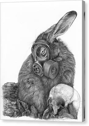 Radioactive Black And White Canvas Print by Penny Collins