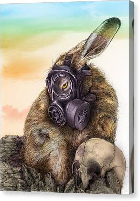 Canvas Print featuring the drawing Radioactive - Color by Penny Collins