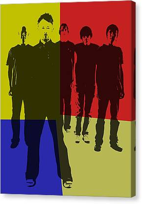 Radiohead Pop Art Canvas Print by Dan Sproul