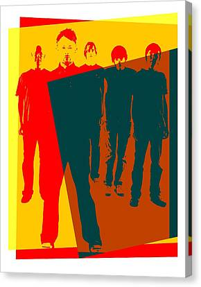 Radiohead Pop Art Poster Canvas Print by Dan Sproul