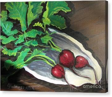Radishes Canvas Print by Gretchen Allen