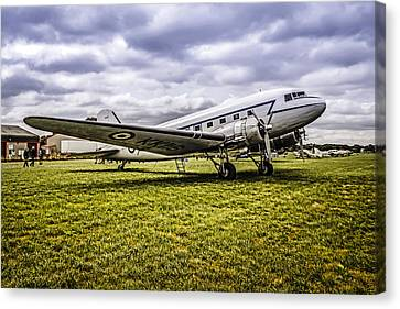Transportion Canvas Print - Raf C47 by Chris Smith