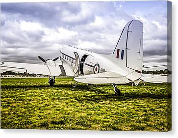 Transportion Canvas Print - Raf Dc-3 Dakota  by Chris Smith