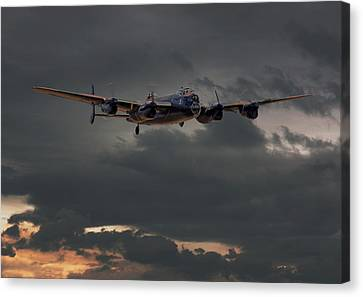 Raf Lancaster - Coming Home Canvas Print by Pat Speirs