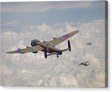 Raf Canvas Print - Raf Lancaster - Conclusion by Pat Speirs