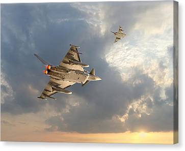 Raf Typhoon  -  Evensong Canvas Print by Pat Speirs