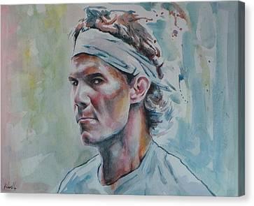 Australian Open Canvas Print - Rafa Nadal - Portrait 1 by Baris Kibar