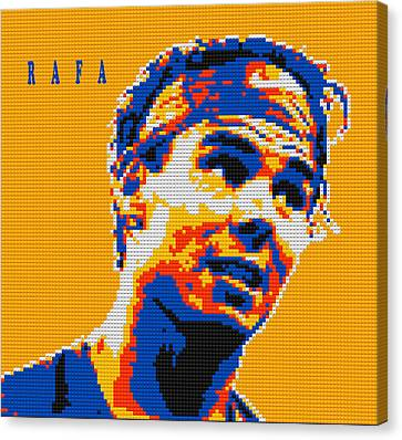 Rafael Nadal Lego Digital Painting Canvas Print by Georgeta Blanaru