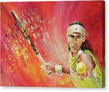 Rafael Nadal Canvas Print by Miki De Goodaboom