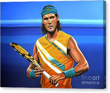 Slam Canvas Print - Rafael Nadal by Paul Meijering