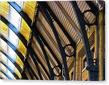 Rafters At London Kings Cross Canvas Print by Christi Kraft