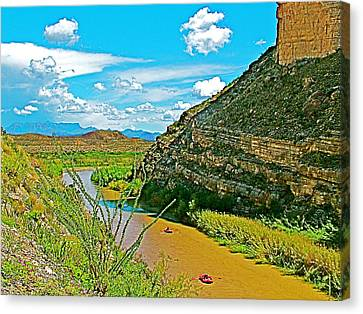 Rafting In Santa Elena Canyon In Big Bend National Park-texas Canvas Print by Ruth Hager