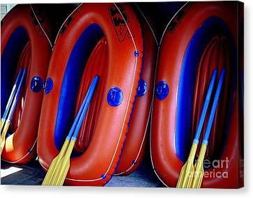 Rafts Waiting Canvas Print by Ranjini Kandasamy