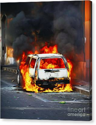 Rage In The Street Canvas Print