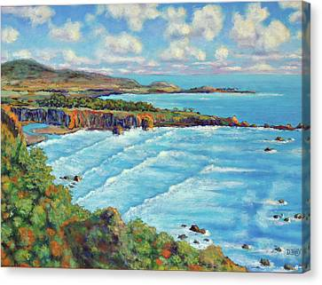 Canvas Print featuring the painting Ragged Point California by Dwain Ray