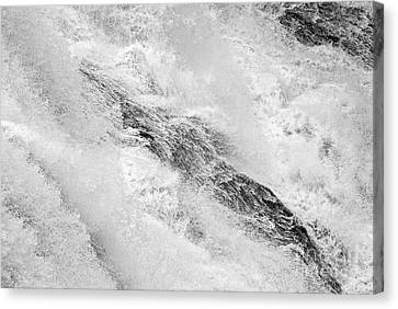 Raging - Close Up Of A Roaring Waterfall Canvas Print by Jamie Pham