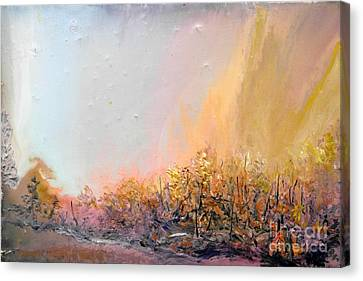 Raging Forest Fire Canvas Print