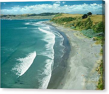 Aotearoa Canvas Print - Raglan Beach New Zealand by Bruce Stanfield