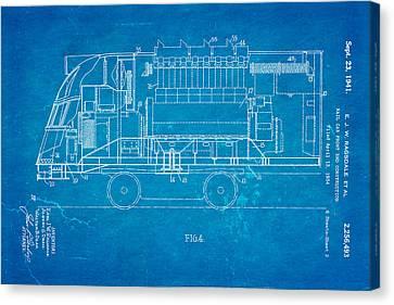 Ragsdale Pioneer Zephyr Train 2 Patent Art 1941 Blueprint Canvas Print