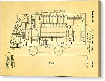 Ragsdale Pioneer Zephyr Train 2 Patent Art 1941 Canvas Print