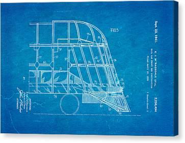 Ragsdale Pioneer Zephyr Train 4 Patent Art 1941 Blueprint Canvas Print