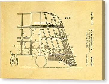 Ragsdale Pioneer Zephyr Train 4 Patent Art 1941 Canvas Print