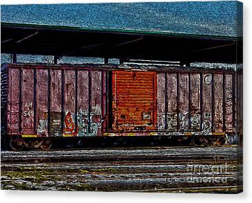 Rail Car Art Canvas Print by R McLellan