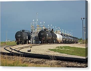 Rail Cars Carrying Lpg Canvas Print