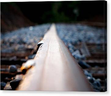 Canvas Print featuring the photograph Rail Line by Greg Simmons