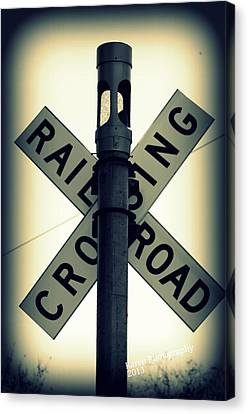 Rail Road Crossing Canvas Print